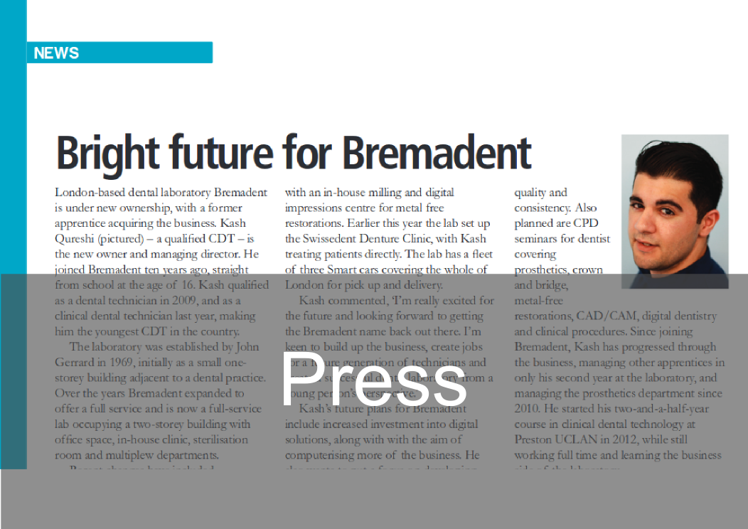 Press Section -  Bremadent Dental Laboratory, London