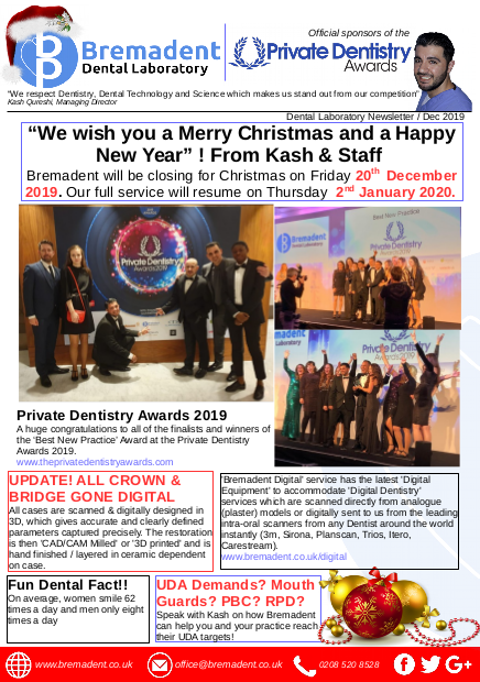 Xmas 2019 - Dental Laboratory Newsletter